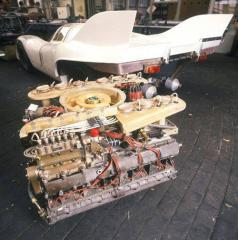 orsche 917 and its mighty 12-cylinder engine.