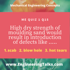 Mechanical Engineering Concept Quiz 1