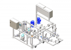 3D Model of Water Treatment & Air Control Processing Plant
