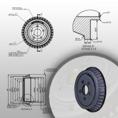 Detail Drawings and 3D Modeling for Casting Components