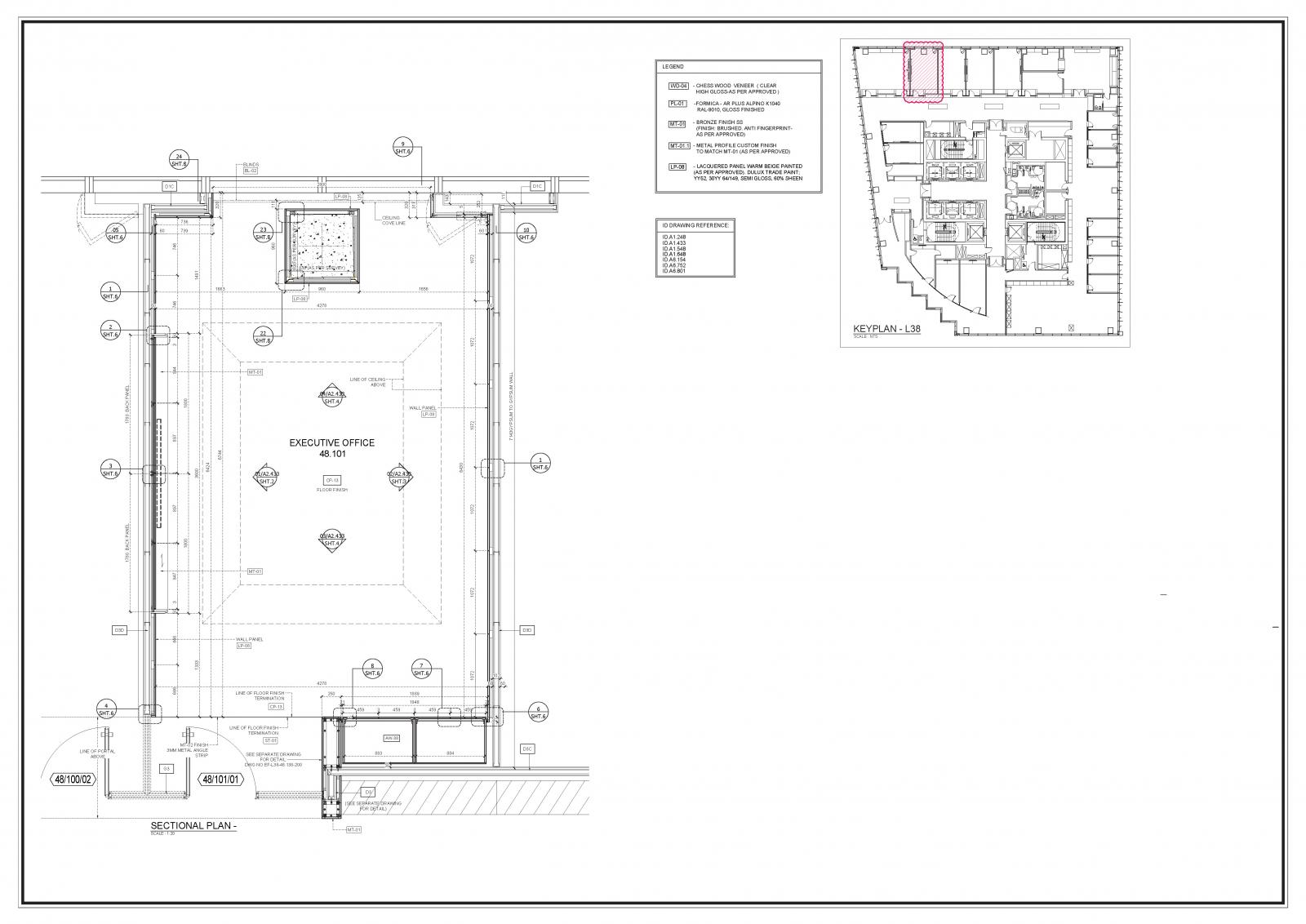 Millwork Shop Drawings for Bespoke Furniture